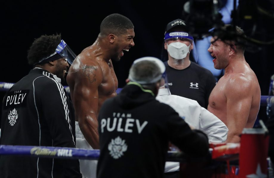 Anthony Joshua knocks out Kubrat Pulev in ninth round