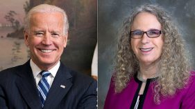 Joe Biden and Dr Rachel Levine
