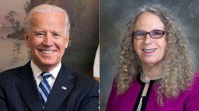 Joe Biden and Dr Rachel Levine