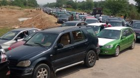 Motorists queue for petrol in Abuja