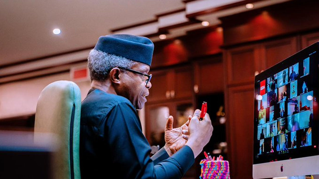 Osinbajo offers scholarship to gifted physically challenged artist
