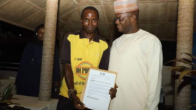 Bello appoints speech impaired ex-cleaner as aide