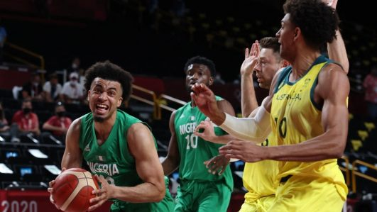 Nigeria basketball team D'Tigers against Australia