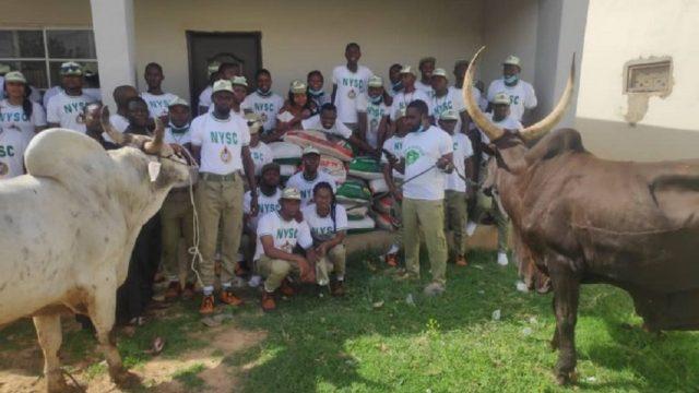 Buhari donates N1million, cows, rice to NYSC members in Daura