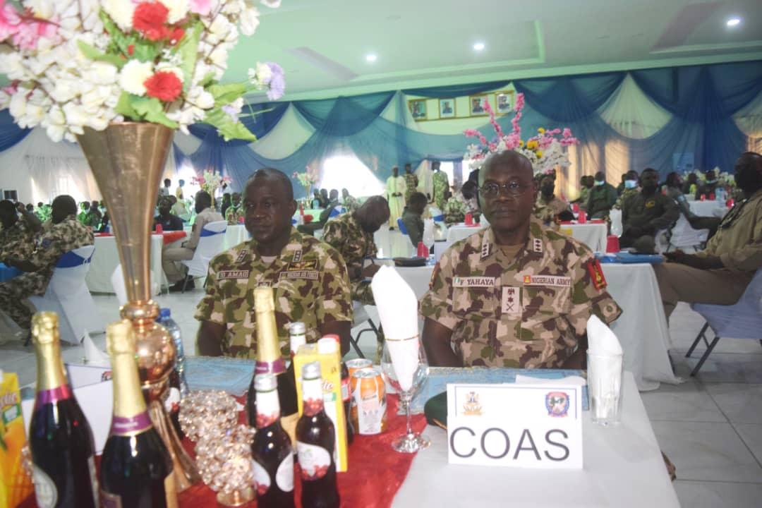 Chief of Army Staff (COAS), Lt Gen Faruk Yahaya and Chief of Air Staff (CAS), Air Marshal Oladayo Amao