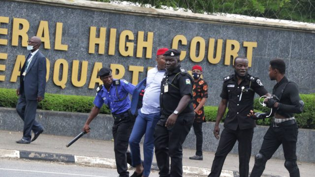 Nnamdi Kanu: Nigeria restricts media coverage for IPOB leader's trial