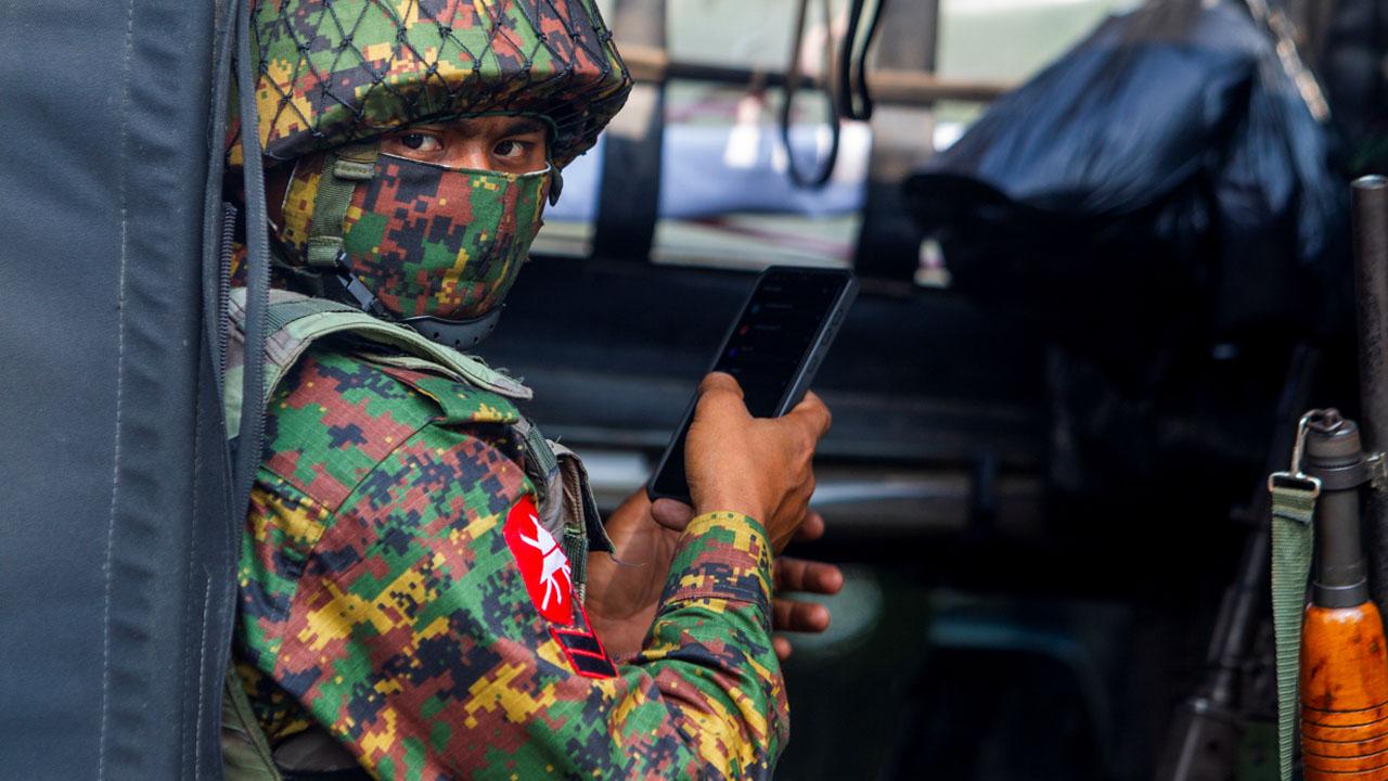Myanmar junta troops clash with 'self defence' forces