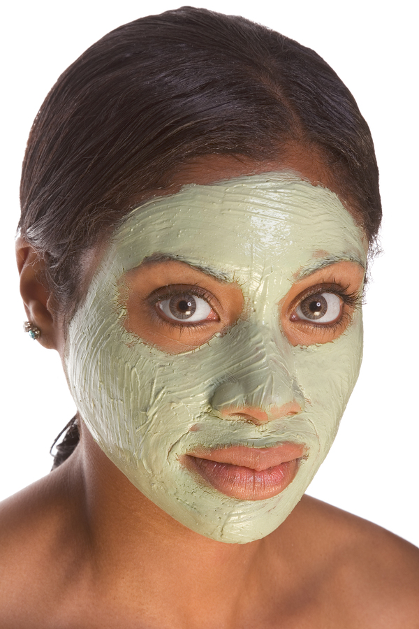Facial mask on black girl