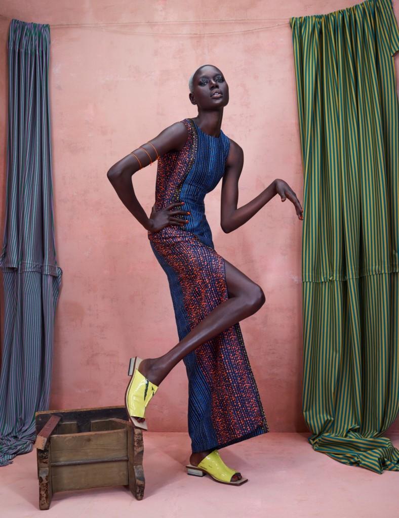 Dress: GREY, Shoes: Shem Paronelli Studios for Kenneth Ize