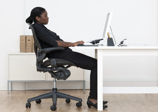 A Working Cl Man Or Woman Hardly Has Time To Hit The Gym Sitting All Day Increases Our Risk For Obesity And Puts Us At Back Pain Poor Posture