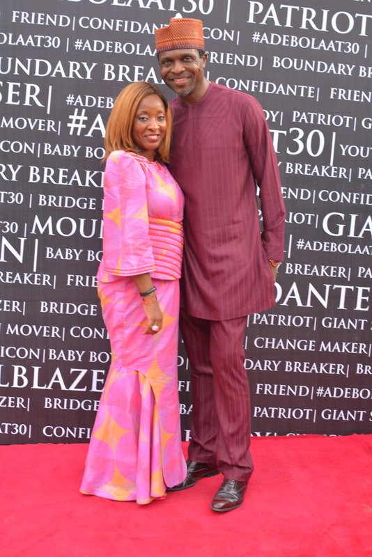 Tonye Cole and his wife