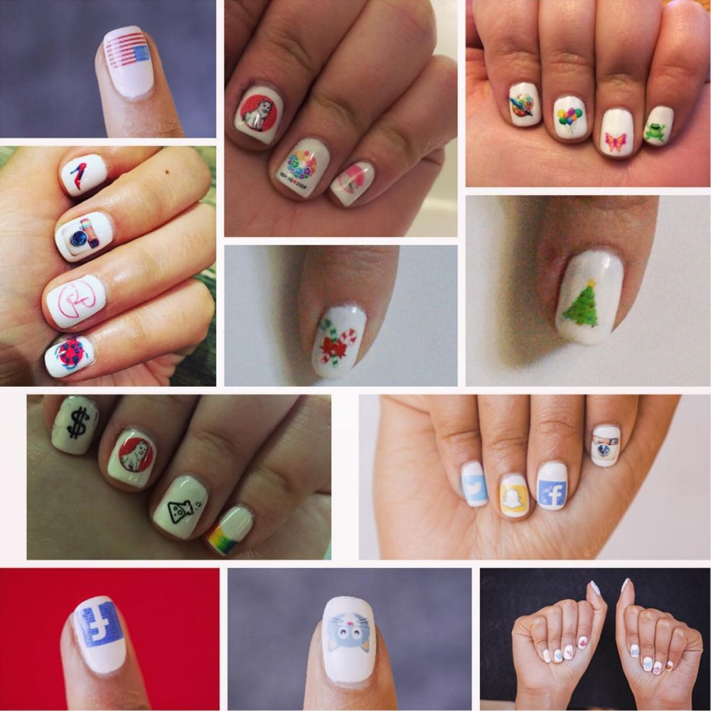 All You Need For Your Next Decorative Manicure Is Smartphone To Nail Art Design Now This What I Call Technology Enhancing Beauty