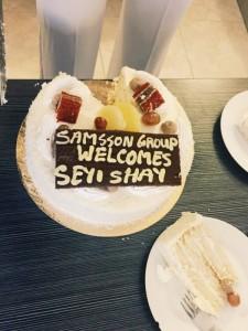 Seyi Shay's cake