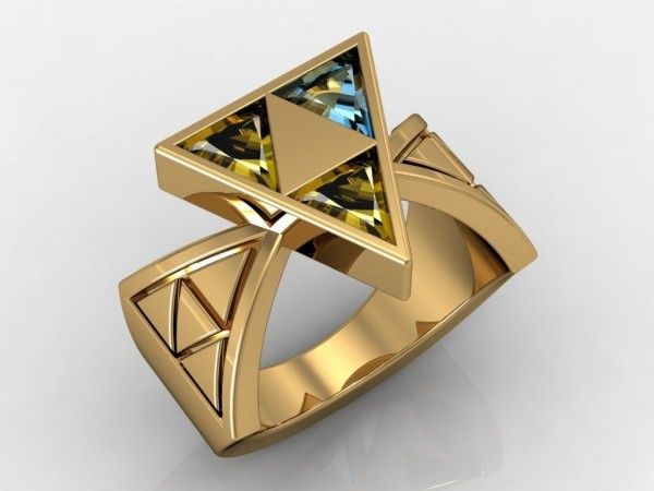 14. Zelda Triforce Ring; for the one worthy enough to wield it.