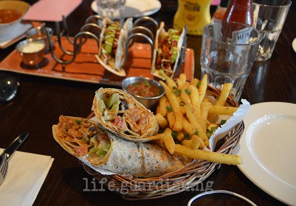 vegetarian burrito - Hard Rock Cafe