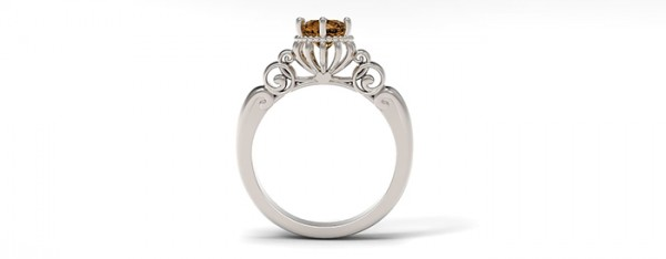 13. The Pumpkin Coach Ring inspired by Cinderella for the one who is truly a princess