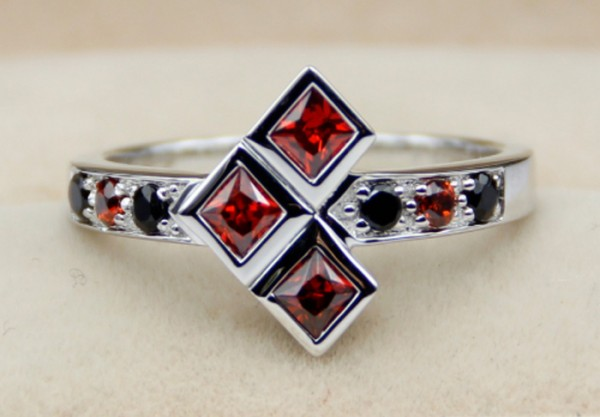 2. A Harley Quinn Ruby Ring for your puddin'