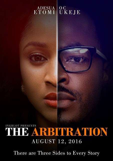 """The first teaser for the upcoming movie """"The Arbitration"""" is out, starring, Africa Magic Viewers Choice Award winners; OC Ukeje and Adesua Etomi."""
