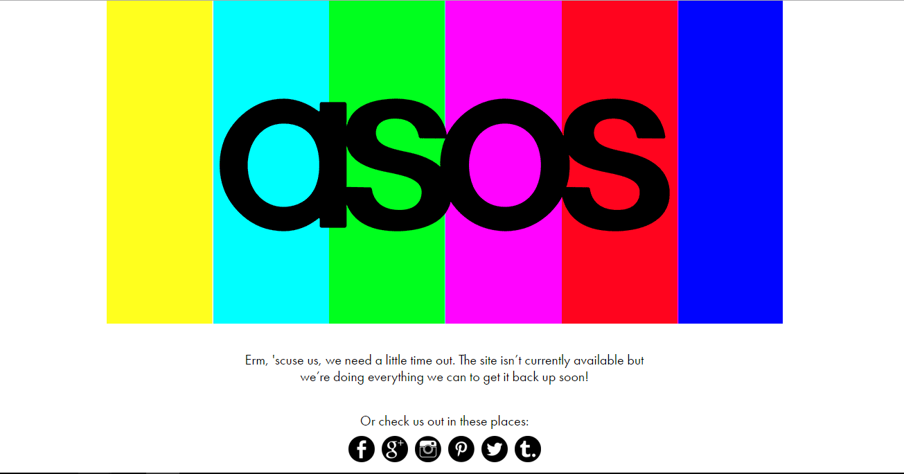 asos website down