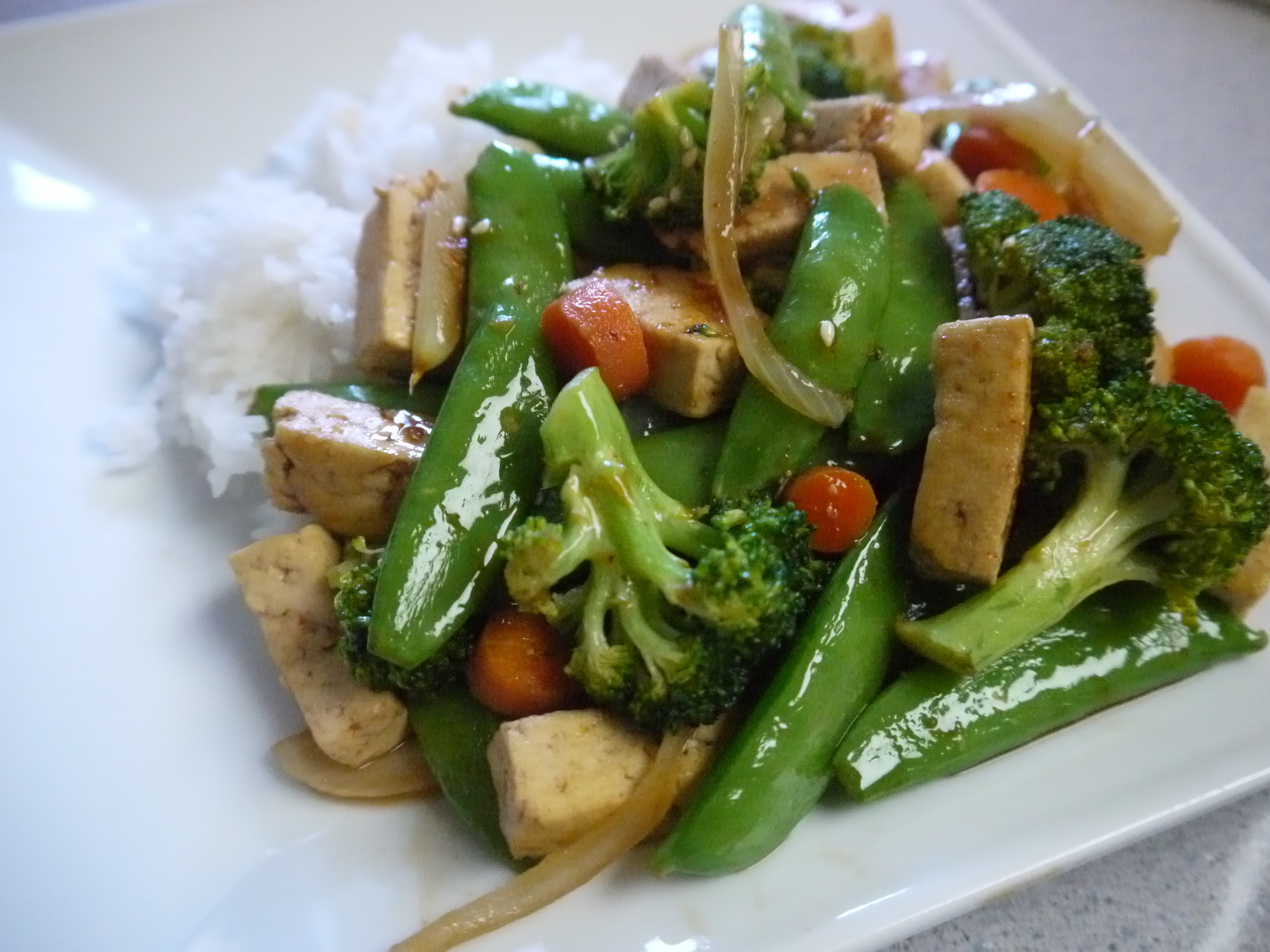 Tofu & Green Veggie Recipe