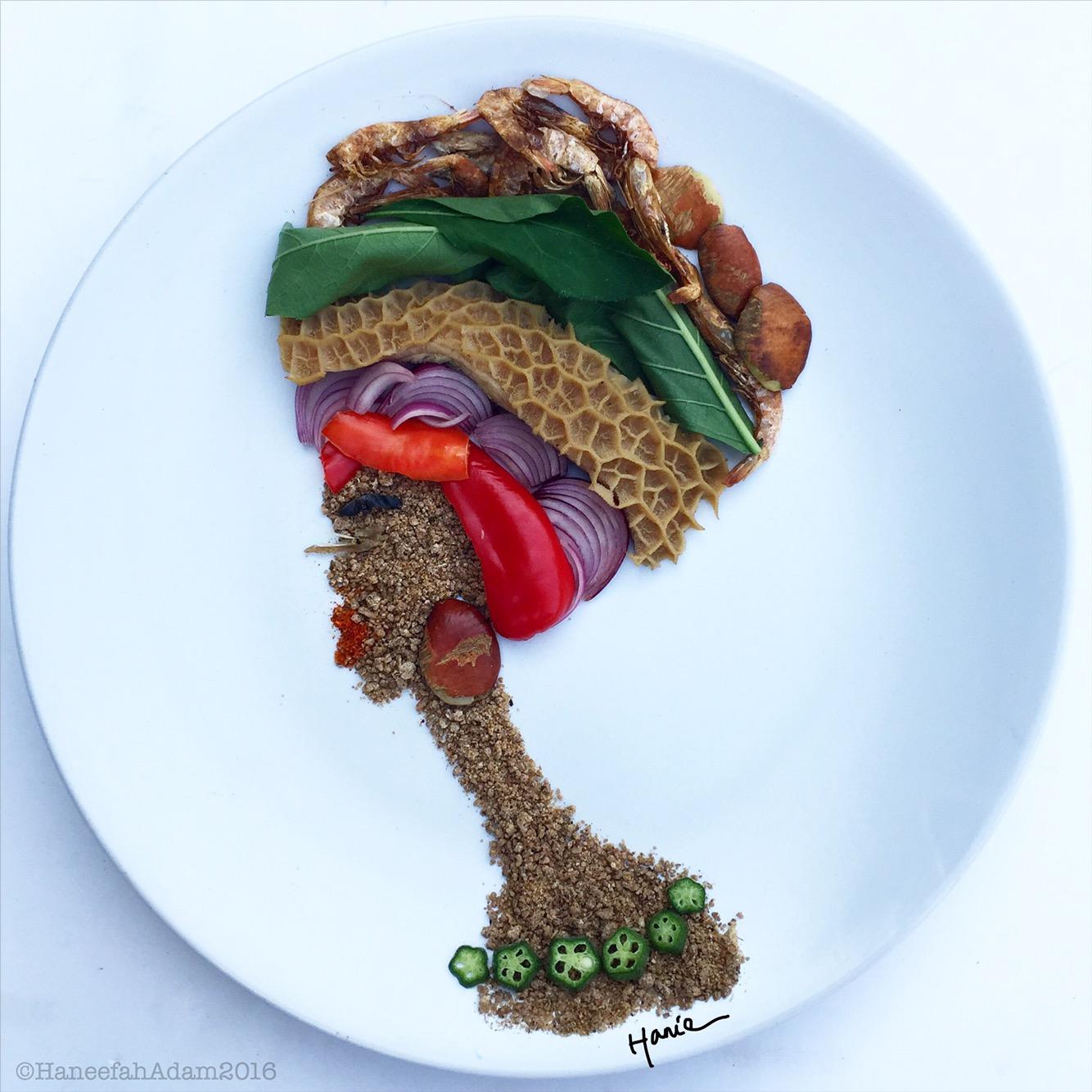 Haneefah Adams food art