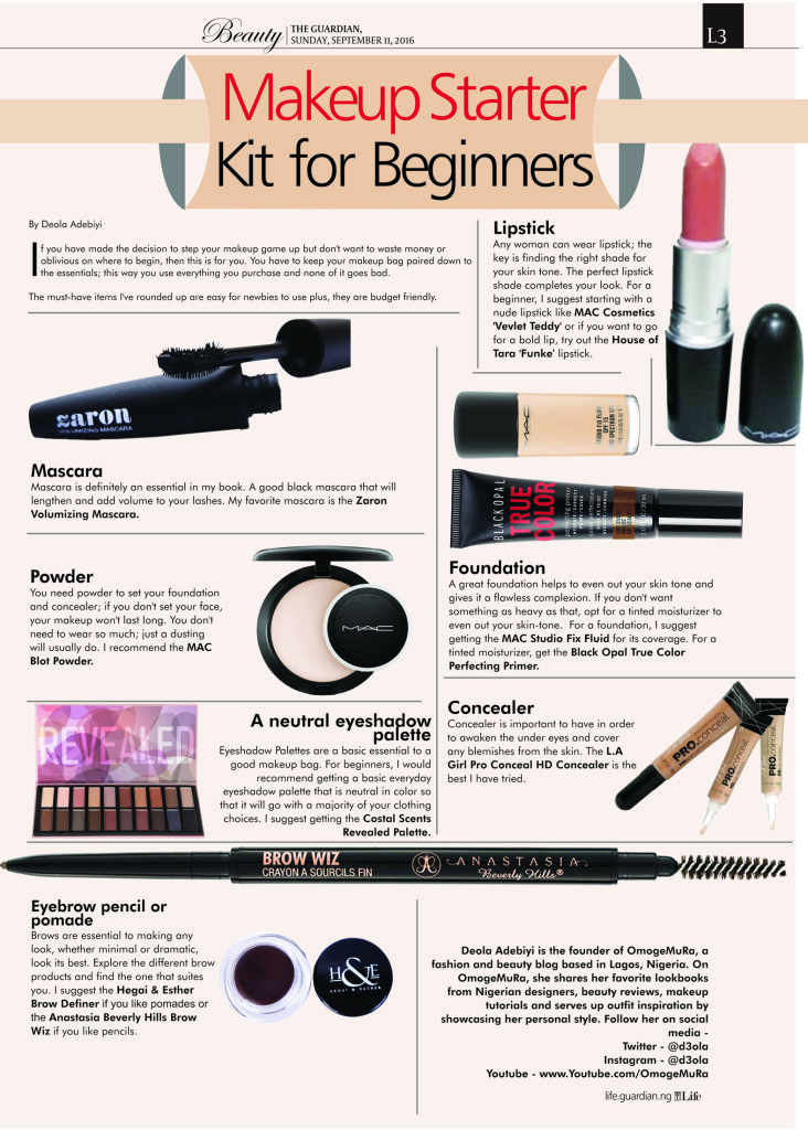 Makeup Starter Kit Beginners Guardian Life