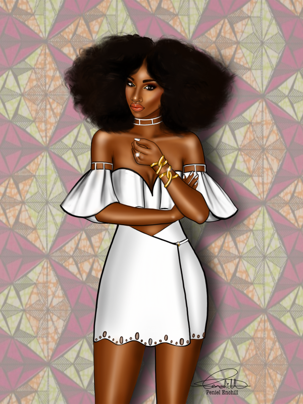 Fashion Drawing Black Girl