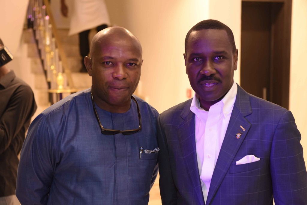 Michael Laolu Adeyeye, Founder, Laolu Adeyeye & Co with Pastor Ituah Ighodalo at the Grand Opening of Alter Ego Private Atelier copy